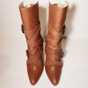 Manolo Blahnik Deepur Buckle Boots